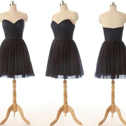 Black Tulle Sweetheart Short A-Line..