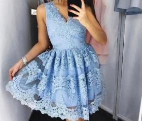 S423 Cute Blue Lace ..