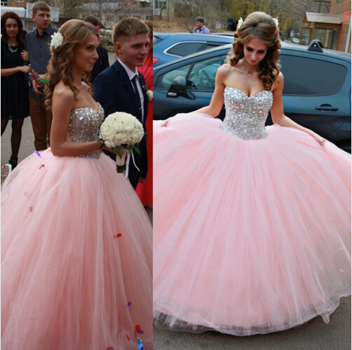 S66 Sweetheart Beaded Quinceanera Dresses,Pink Ball Gown Prom Dresses,Princess Wedding Dress,Pink Tulle Wedding Bridal Gowns,Ball Gown Wedding Dress