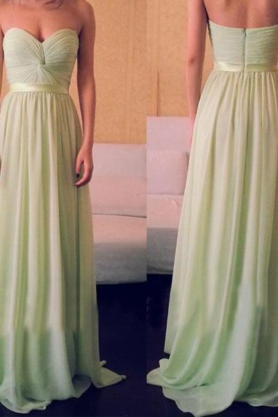 S102 Bridesmaid Dresses,A Line Long Bridesmaid Dresses,Custom Made Cheap Bridesmaid Dress ,Sweetheart Prom Dress