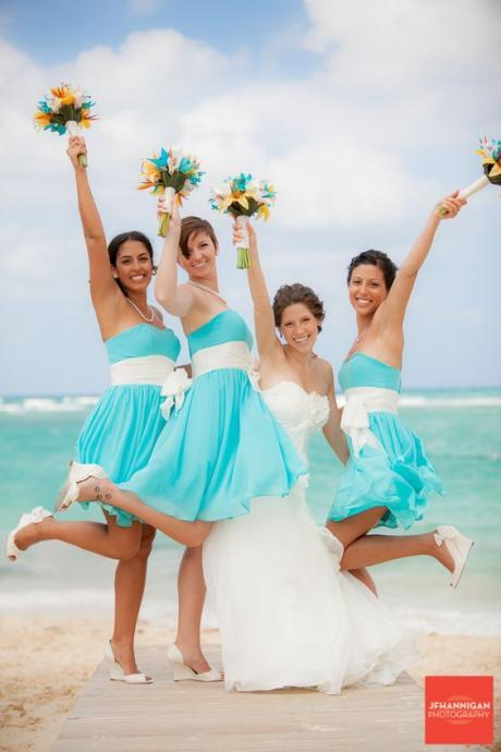 S254 Pretty Ice Blue Chiffon Sweetheart Bridesmaid Dresses With White Sash,Simple Bridesmaid Dress,Bridesmaid Dress,Short Prom Dress
