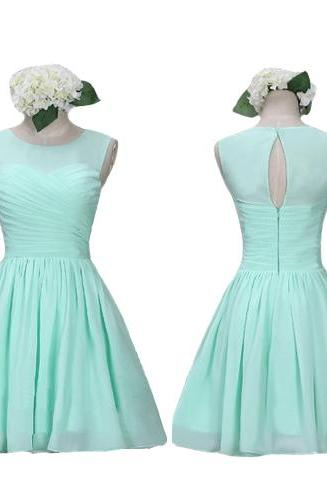 S542 Mint bridesmaid dresses, simple bridesmaid dresses, short bridesmaid dresses, cute bridesmaid dresses, custom bridesmaid dresses,Real Photo Dress