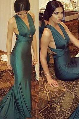 S730 Prom Dress,Mermaid Prom Dress,Long Prom Dresses,Formal Evening Dress,Green Evening Gown,Evening Dress