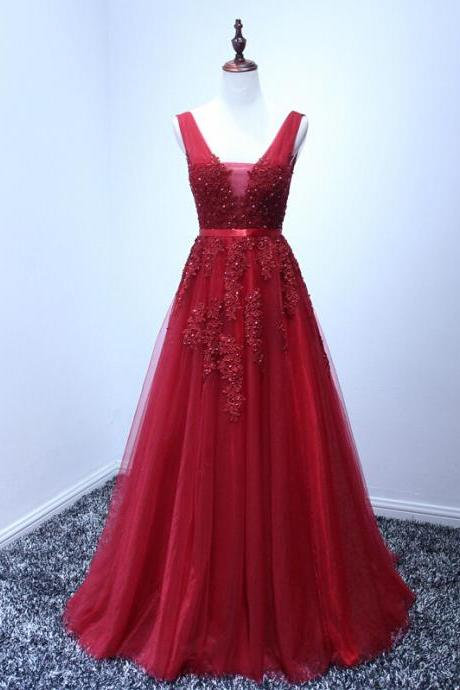 D37 High Quality Prom Dress,Tulle Prom Dress,Appliques Prom Dress,Appliques Prom Dress, Charming Prom Dress,Prom Dress,Evening Dress