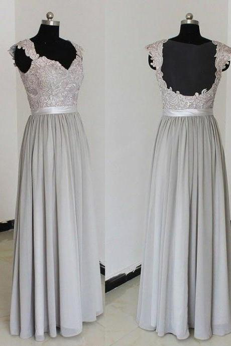 D99 Charming Prom Dress,Chiffon Prom Dress,Appliques Prom Dress,V-Neck prom Dress,A-Line Evening Dress