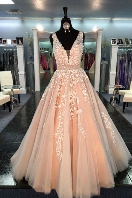 A10 Fashion Wedding Dresses, V Neck Prom Dresses, Sleeveless Prom Dresses, Charming Evening Gowns, Long Prom Dresses,Real photo Dress,Wedding Dress