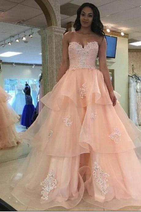 E450 Charming Sweetheart Appliques Prom Dresses,Long Prom Dresses,Cheap Prom Dresses, Evening Dress Prom Gowns, Formal Women Dress,Prom Dress