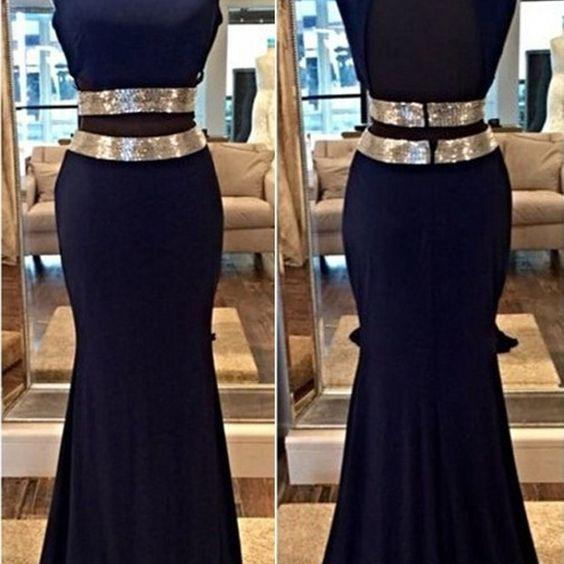 D180 Charming Prom Dress,Satin Prom Dress,Mermaid Prom Dress,Backless Evening Dress