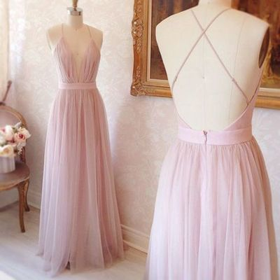 D203 Charming Prom Dress,Tulle Prom Dress,A-Line Prom Dress,Spaghetti Straps Evening Dress
