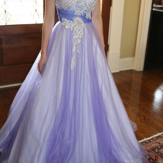 D210 Charming Prom Dress,Tulle Prom Dress,Appliques Prom Dress,One-Shoulder Evening Dress